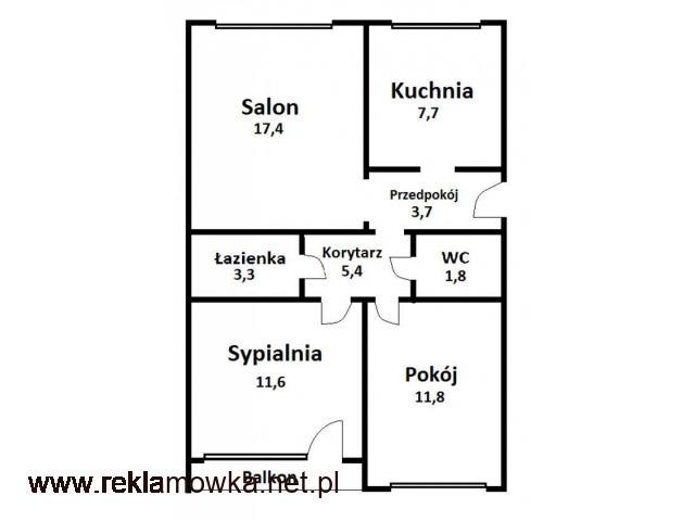 Mieszkanie M4 62.7m2, Częstochowa Północ - 2/2