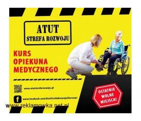 """Kurs """"Opiekun Medyczny"""" w ATUT Strefa Rozwoju Chorzów już w ten weekend !"""