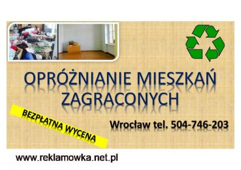 Sprzątanie mieszkań po zbieraczach, cena tel. 504-746-203. Wrocław, Usługi dezynfekcji