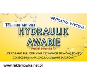 Przepychanie kanalizacji, cennik, tel. 504-746-203, odblokowanie odpływu