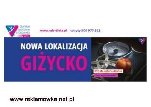 KOMPLEKSOWA OPIEKA DIETETYKA ODCHUDZANIE DIAGNOSTYKA PORADNIA CDS GIŻYCKO