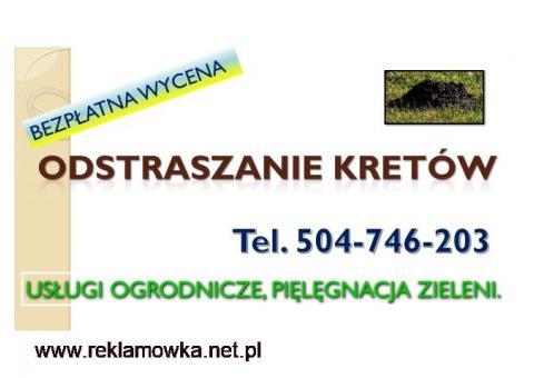Skuteczna metoda na krety, tel. 504-746-203. Zwalczanie kretów, nornic, Wrocław.cena, usuwanie,