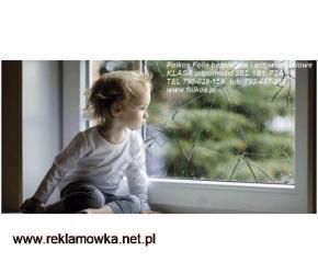 Folie bezpieczne do przedszkoli Certyfikat 2B2 -Folie na lustra,okna,przeszklenia Warszawa