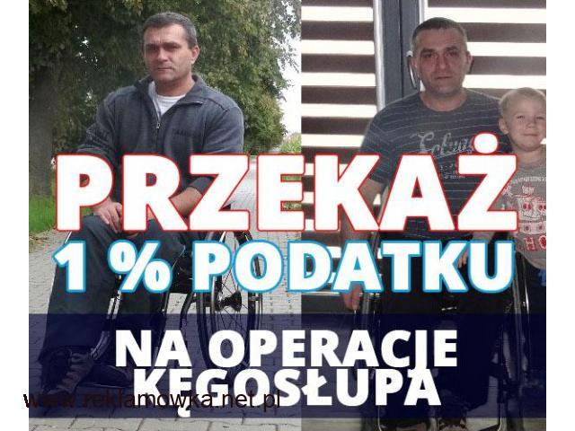 Operacja Kęgosłupa oraz 1 % podatku - 1/1