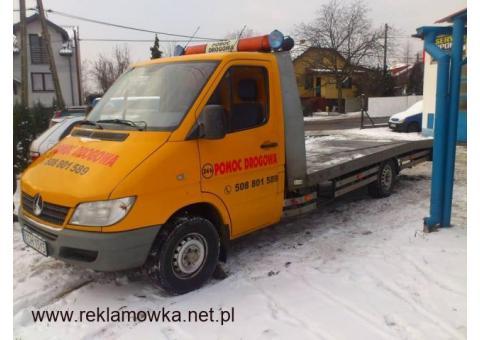 Transport samochdów laweta Chrzanów pomoc drogowa 24 h