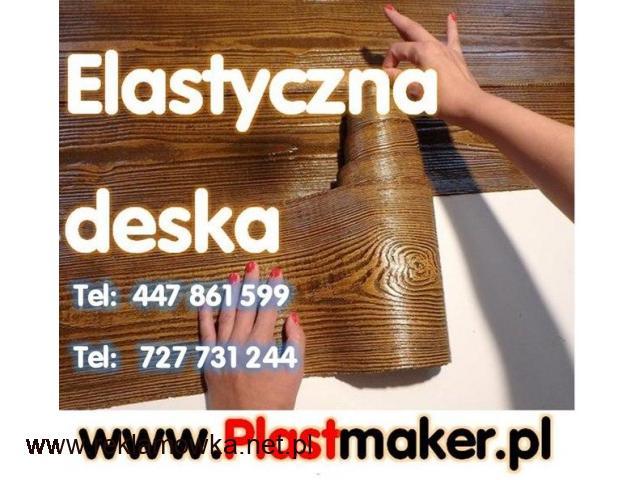 Hit PROMOCJA PlasterTynk elastyczna deska elewacyjna -  IMITACJA DREWNA - 1/1