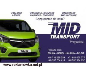 MID Transport Codziennie Polska-Niemcy-Holandia-Belgia. Z adresu na adres bez przesiadek 2 kierowców