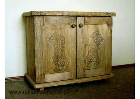 Stylowa, ręcznie rzeźbiona komoda