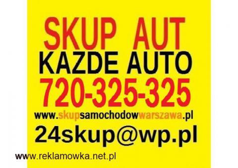 SKUP AUT 720-325-325 AUTO KASACJA WARSZAWA MAZOWSZE