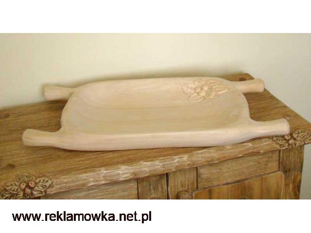 Drewniane korytka do potraw - ręcznie rzeźbione - 1/2