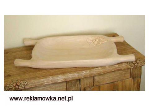 Drewniane korytka do potraw - ręcznie rzeźbione