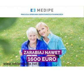 Opiekun lub Opiekunka Niemcy,1465 EURO z własnym mieszkaniem