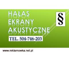 Przekroczenie norm hałasu, tel. 504-746-203. Akustyka, Gdańsk