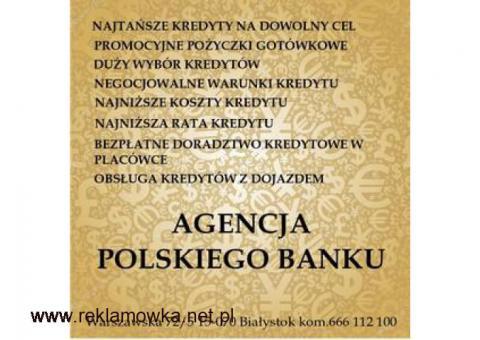 NAJNIŻSZE KOSZTY KREDYTU KONSOLIDACJA HIPOTECZNE BIAŁYSTOK WARSZAWSKA 72/5