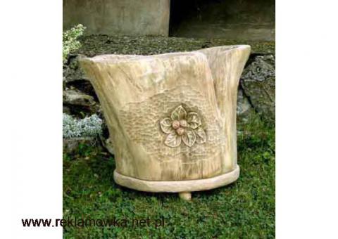Donica z pnia - oryginalna, ręcznie rzeźbiona