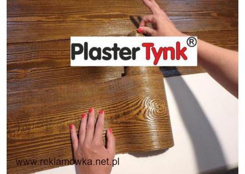 PlasterTynk  - Wysoko elastyczna, ultralekka IMITACJA DREWNA na elewacje