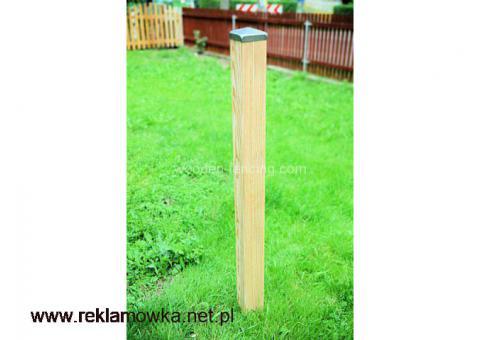 Słupek modrzewiowy szlifowany  120x9x9  cm