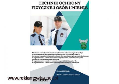 Technik ochrony fizycznej osób i mienia! bezpłatnie! Lublin!