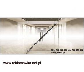 Folia gradientowa Mgła, Perła, Białe Kwiaty ,wzor 234, 560,250 Warszawa