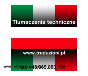 Włoski - tłumaczenia techniczne dla polskich firm