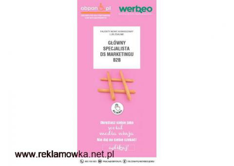 Główny Specjalista ds. marketingu B2B- Falenty Nowe k/Warszawy