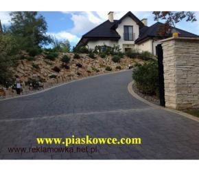 Naturalny kamień ogrodowy do ogrodu płaski dzikówka