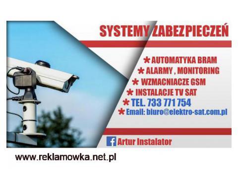 Montaż systemów alarmowych, alarmy Kołobrzeg