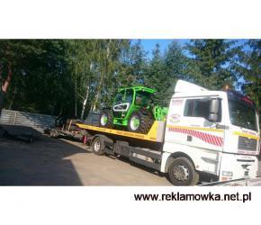 Transport traktorów opryskiwaczy przyczep Wielkopolska