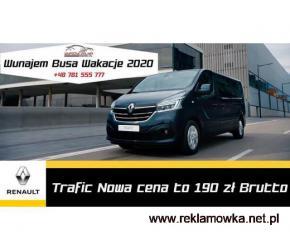 Wynajem Busa 9 osobowego Renault Trafic WAKACJE