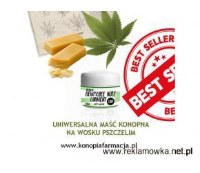 Konopna maść uniwersalna z woskiem pszczelim- AZS, łuszczyca, egzema