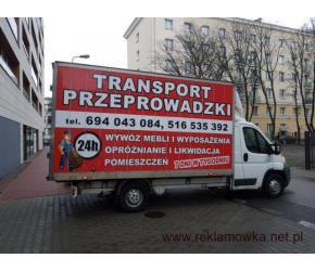 Pogotowie PRZEPROWADZKOWE POGOTOWIE TRAGARSKIE transport przeprowadzki  bagażówka 694-043-084