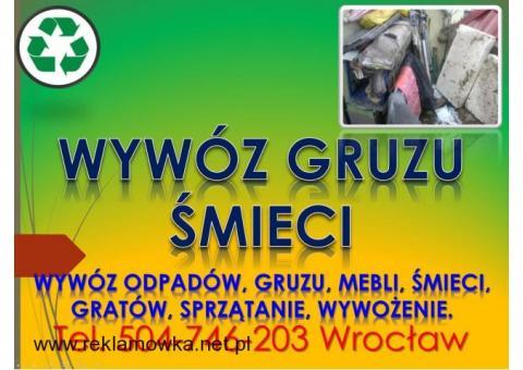 Wywóz odpadów z remontu, tel 504-746-203, sprzątanie śmieci, cena, Wrocław, Wywóz odpadów z budowy,
