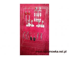 Kolczyki srebrna 925 kol. 3 biżuteria srebrna - wyprzedaż