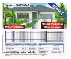 KPL bramowy HAWANA (brama+furtka+3słupki)