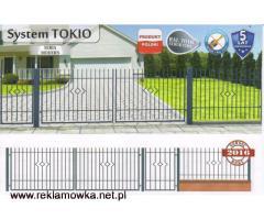 Brama dwuskrzydłowa Tokio + 2 słupki