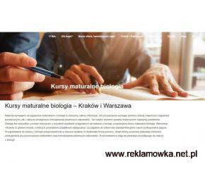 Kurs maturalny - biologia online