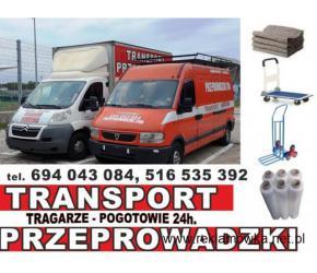 PRZEPROWADZKI TRANSPORT prywatne/firmowe przemeblowanie WNOSZENIE MEBLI,ART.BUDOWLANYCH 694043084