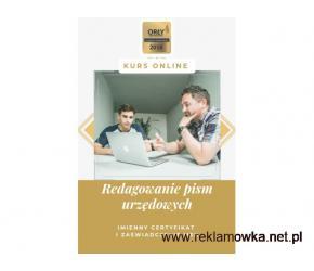 Redagowanie pism - kurs online. Cała Polska