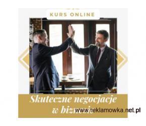 Negocjacje w biznesie - kurs online. Cała Polska