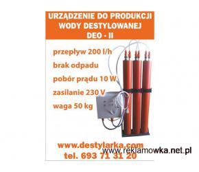 Urządzenie produkcja wody destylowanej DEO-II