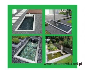 Zbiornik pod obiekt wodny, fontannę ogrodową lub oczko wodne.