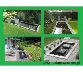 Zbiornik kwadratowy pod fontannę lub oczko wodne