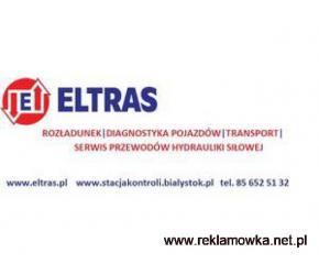 ROZŁADUNEK TRANSPORT DIAGNOSTYKA SERWIS PRZEWODÓW HYDRAULICZNYCH ELTRAS