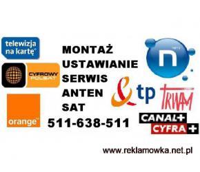 SERWIS MONTAŻ USTAWIANIE anten satelitarnych i DVB-t, naziemnych