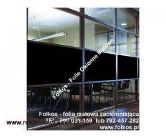 Folia matowa zaciemniająca -100% zaciemnienia Warszawa