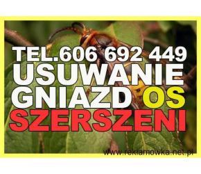 Usuwanie gniazd os, szerszeni, likwidacja - 7 dni w tygodniu Opolskie, Śląskie