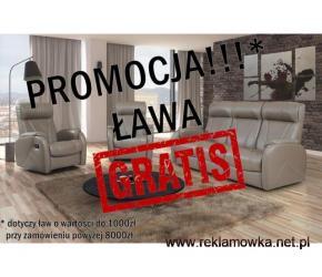 Lena 311 skóra Ława GRATIS relax!