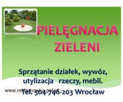 Sprzątanie ogrodu, ogrodnik Wrocław, cena tel 504-746-203, usługi ogrodnicze.