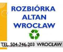 Rozbiórka altan, cennik, tel 504-746-203, demontaż, rozebranie, rozbiórka altany, na działce,