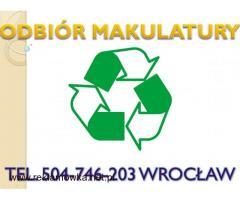 Odbiór makulatury, Wrocław, tel 504-746-203, kartonu, makulatura zbiórka,wywóz,Wrocław,cena,